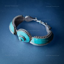 Hand Made One of a kind Turquoise and Silver Bracelet