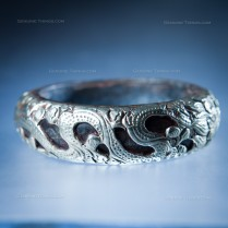 Gold  and Silver Hand Made  Dragon Bangal  Bracelet