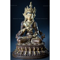 Gold Plated and Copper Hand Made Figurine of VAJRASATWA