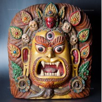 Wooden Mahakala Hand Carved