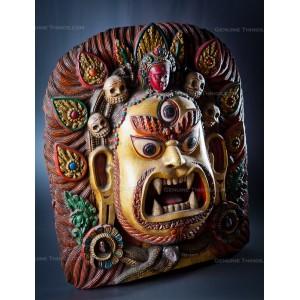 Wooden Mahakala Hand Carved