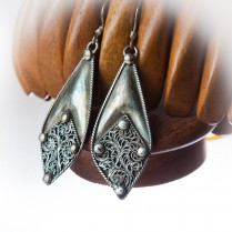 Sterling Silver Fulgeri Design  Hand made Earrings