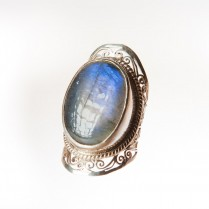 Labradorite Silver Ring Handmade. Size 9